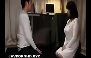 Son gets intercourse education non-native horny Japanese mom