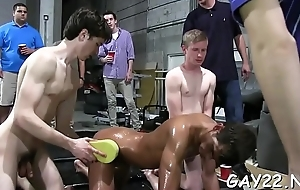 Horny dude engulfing his firm dauntless cock