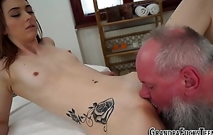 Teen tasted by old perv