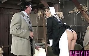 Amish pamper Blair Williams saves the heritage with her pussy