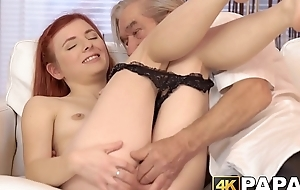 Redhaired vixen gets punished be beneficial to cheating alongside threesome
