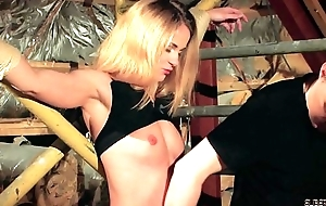 BDSM be useful to chubby tits beauteous torturing her nipples together with botheration