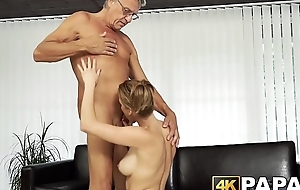 Young beauty cheats boyfriend with full-grown cock hammering