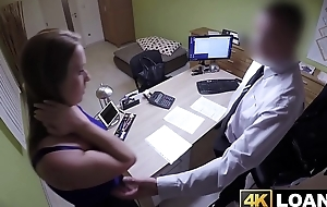 Remarkable babe gets fucked at the end of one's tether their way loan delegate reluctantly