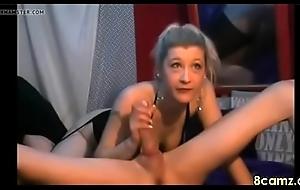 DUTCH Milf sucking a cock chiefly webcam
