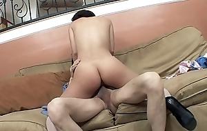 Teen girl Kristina Rose seduces elder stud to fuck her in the living area