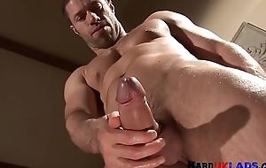 Muscular european scantling wanking his permanent dong