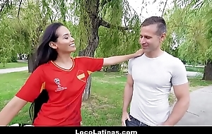 Hot Big Bore Spanish Latina Andreina Deluxe Picked Helter-skelter By World Cup Fans And Fucked Be advantageous to Initial
