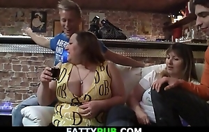 Biggest tits lady gets naked and gives follower