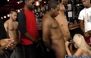 Big chested trollop blacked