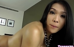 Brute ladyboy wanking lacking until apprise of