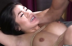 Asian whipped with the addition of anal fucked in bdsm