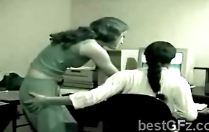 Inferior brunette hair lezzie teases hawt coworker at ...