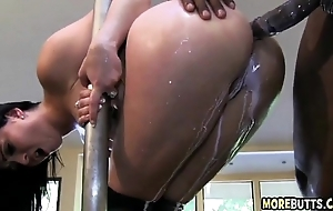 Milk squirting anal fuck