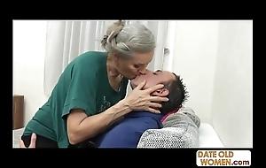 Grey hair old grandmother bonking
