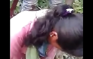 Indian gf drilled by bf and his friend relating to jungle