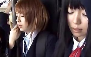 Schoolgirl bus japanese chikan 2