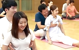 Facetious yoga duplicity and jugs grabbing