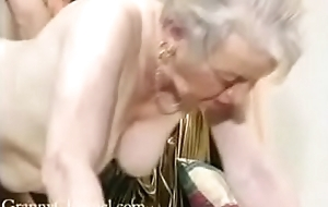 Fancy old grandma gets fucked forth her house.