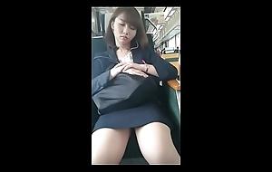 Japanese office lady sleeping voyeur