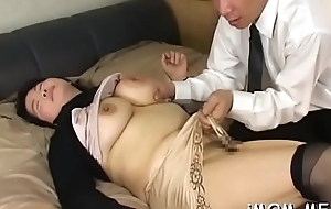 Odd japanese older licks her worshipped nearly his body