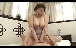 Beautiful Mom Japanese Fucked wide of son