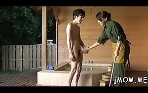 Weenie hungry japanese mature sucks a large unearth passionately