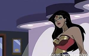 Superhero anime - wonder woman vs maestro america