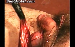 Bleeding dong coupled with balls of hard labour receives hurt by b...