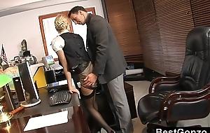 Naughty secretary lewd at work