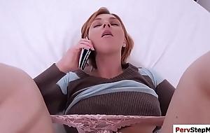 Horny stepson destroys sexy stepmoms fur pie