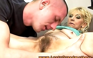 Amateur older granny acquires comminute a break up with interrupted