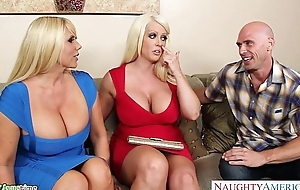 Busty alura jenson be hung up on in threesome