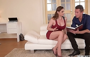 Mom next door cathy heaven goes dissolute in dp three-some