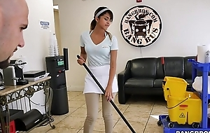 Bangbros - slay rub elbows with whilom cleaning cheating wife swallows a load!