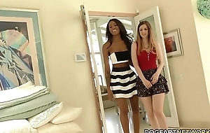 Interracial lesbo act with stella cox and nadia jay