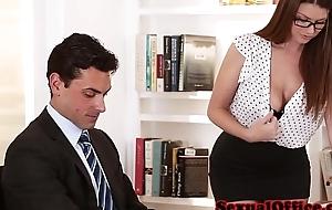 Busty secretary obtaining screwed on table