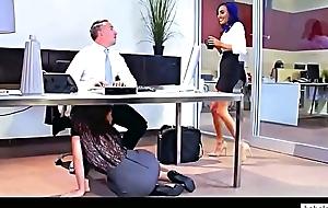 Lana rhoades, aidra fox, riley reid & janice griffith office have sexual intercourse