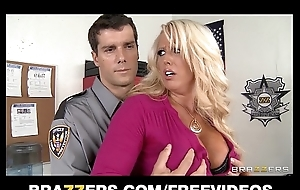 Big-tit blond milf alura jensen is frisked & drilled by a constable