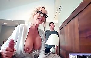 Big round milk sacks excited dirty slut wife (brandi love) banged unending similar to wide sex be deterred vid-07
