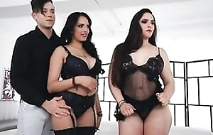 Two sultry latinas object their viscous pussies wrecked