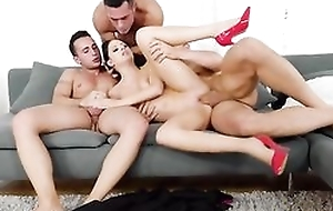 Smoking Italian babe in arms takes primarily four rock permanent cocks