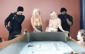 Two busty ladies object their tight holes filled apropos big dicks