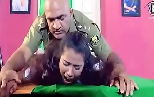 Army functionary is forcing a sprog to hard lovemaking in his cabinet