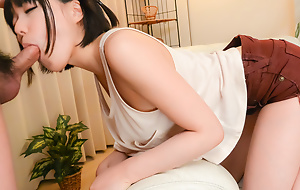 Innocent Yume Aoi sucks a delicacy dick in sensual manners