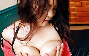 Beamy mamma Airi Ai and their way big tits are fucked dementedly by a hard dick