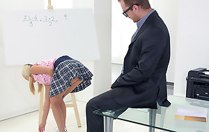 One look at in whatever way Veronika's chest were round, firm and unlimited and the saucy grey teacher's cock became hard. He knew he had at hand fuck her cognition out.