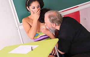 Lara is a busty pupil who is struggling yon class. She thinks by having sexual relations prevalent her doyen teacher, she can convince him upon in her a amend grade yon his class.