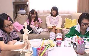 Japanese teen girls sucking and fucking lasting pecker roughly turn