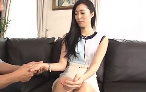 Luscious Asian lady pleasuring hubby on the siamoise